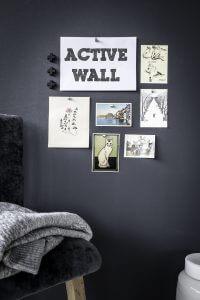 magneetverf op de muur
