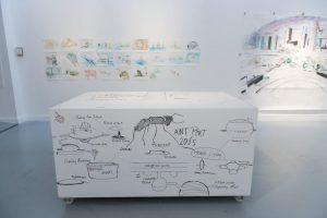 Whiteboardwand met whiteboardverf Museum Mukha - Antwerpen