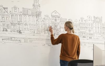 whiteboard verf, kantoor